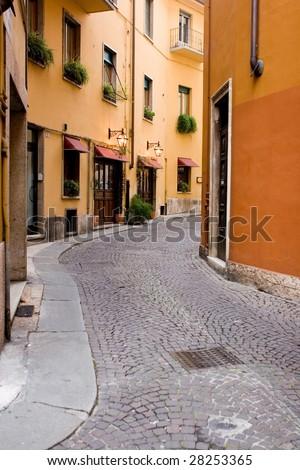 street in italy - stock photo