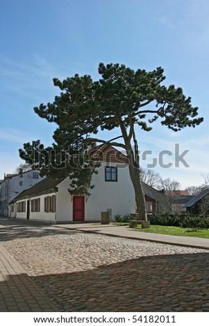 Street in Kuressaare (Saaremaa island, Estonia, Europe) - stock photo