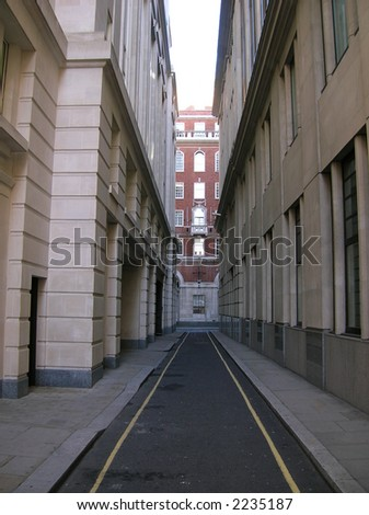 Street in Londons financial district. - stock photo