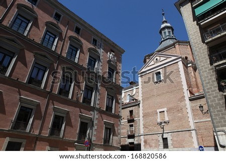 street in Madrid, Spain - stock photo
