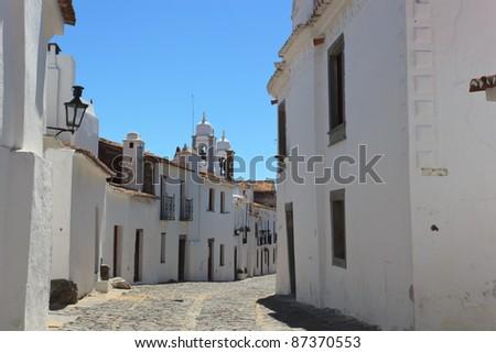 Street in Monsaraz - stock photo