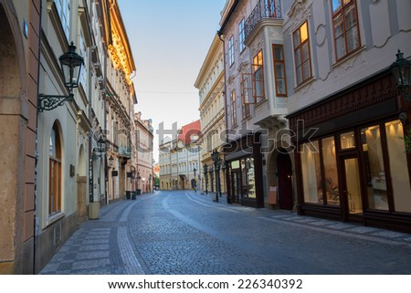 street in old town,  Prague, Czech Republic - stock photo