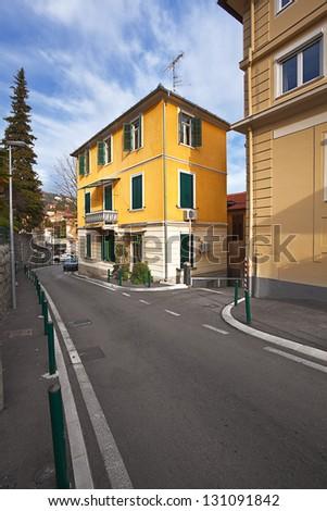street in Opatija. Croatia. - stock photo