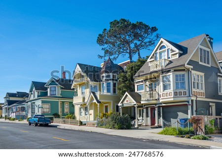 Street in Pacific Grove, Monterey, California, USA