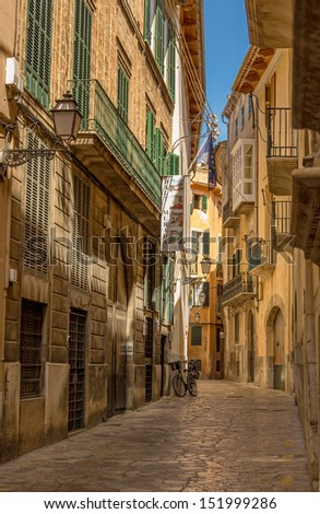street in palma de mallorca - stock photo