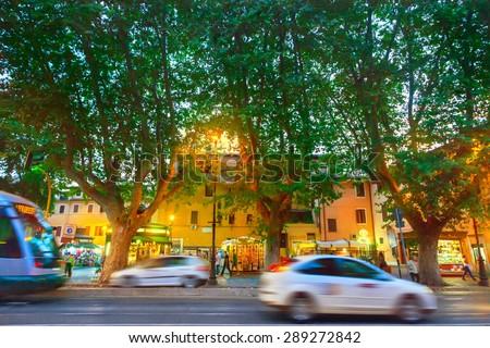 Street in Rome - stock photo