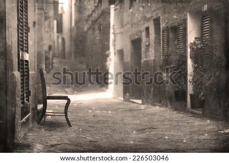 Street in Tuscany, Italy - stock photo