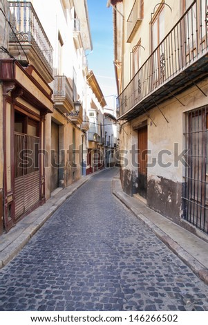 street in Xativa in Valencia, Spain - stock photo