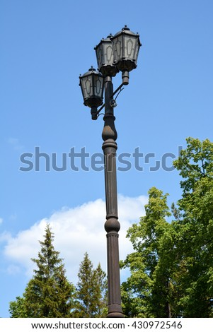 Street lamp in the Park