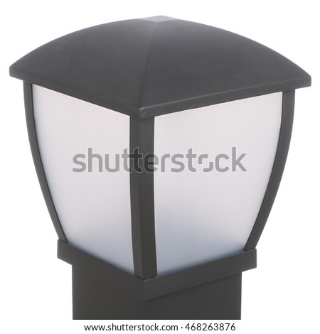 street lamp isolated