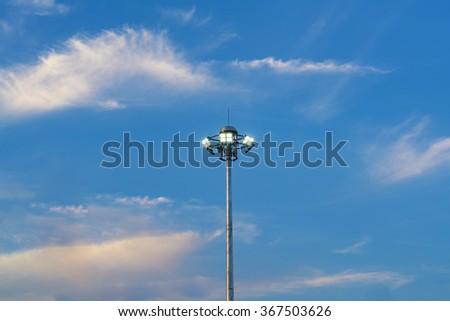 Street lamp posts - stock photo