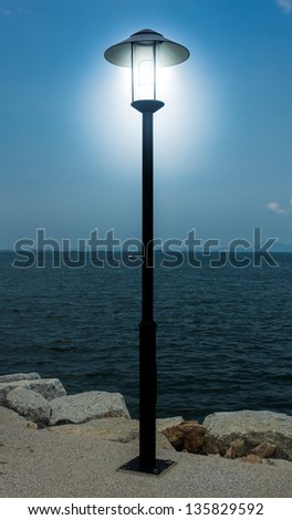 street lamp thailand sea