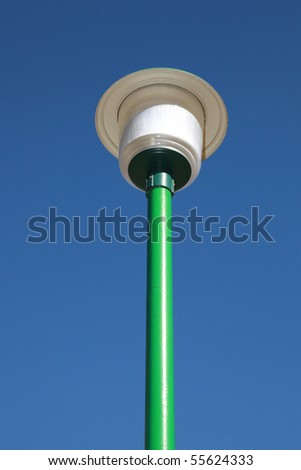 Street lamp with blue sky - stock photo