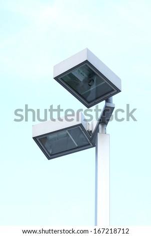 Street lamps post  - stock photo