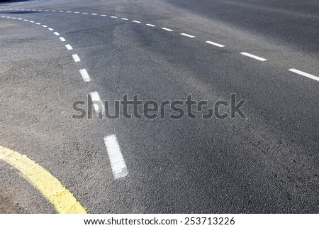 Street lanes - stock photo