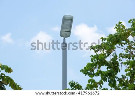 Street LED Lighting Technology. in garden - stock photo