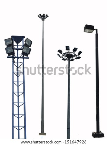 Street Light collection - stock photo