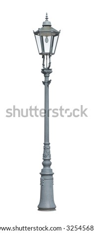 Street light cutout isolated on white background