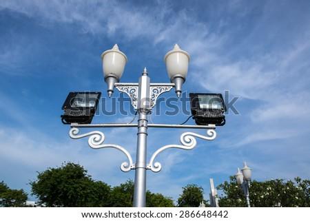 street light pole - stock photo
