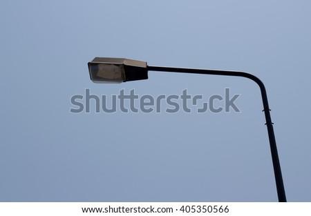 Street lights (Lamp) on the road - stock photo