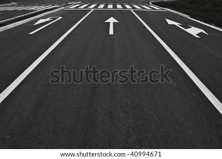 street lines - stock photo