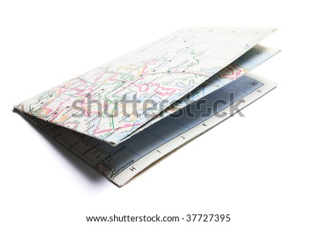 Street Map on Isolated White Background - stock photo