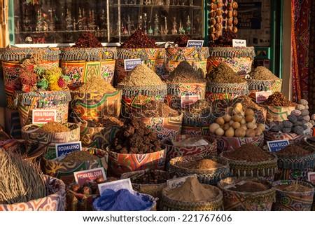 Street market in Egypt. Old Market. Sharm el-Sheikh - stock photo