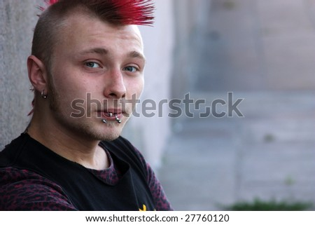 street moscow punk - stock photo