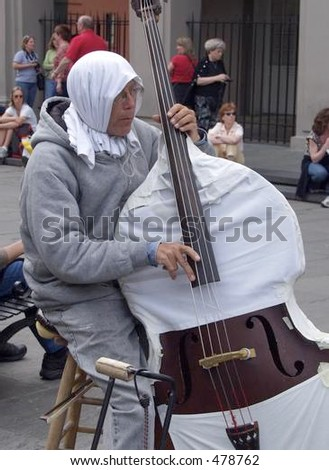 street musician - stock photo