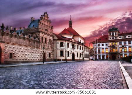 street of Prague, Czech Republic - stock photo