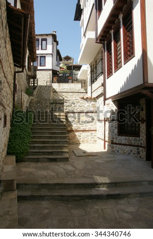 street of Zlatograd - stock photo
