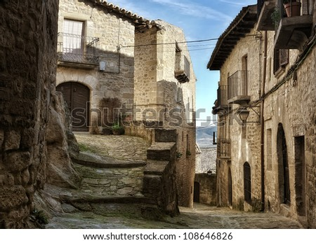 street old village - stock photo