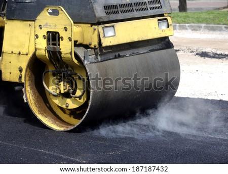 Street paving - stock photo