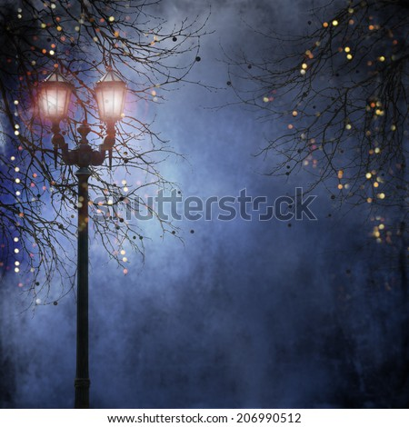 Street retro lighting - stock photo