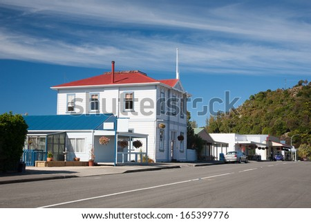 Street Scene Collingwood South Island New Zealand - stock photo
