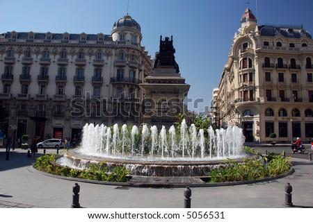 street scene in granada spain - stock photo