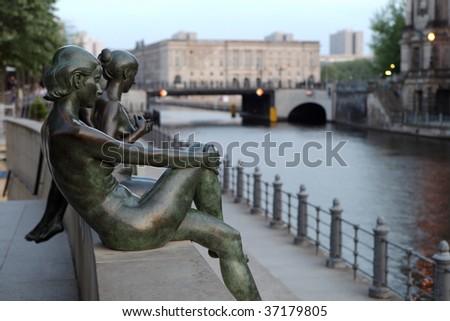 Street sculptures in Berlin, Germany - stock photo