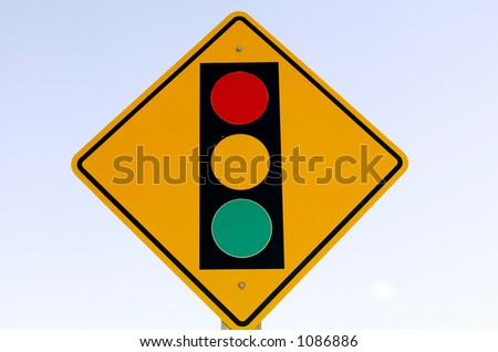 Street sign against a washed out sign indicates a traffic signal ahead.  sc 1 st  Shutterstock & Warning Road Sign Quebec Canada End Stock Illustration 327342017 ... azcodes.com