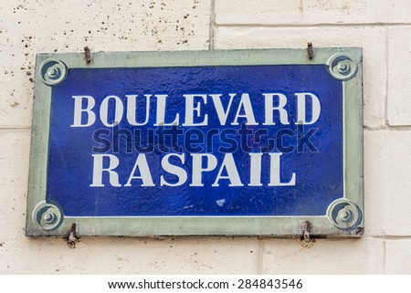 street sign/french street sign/street name - stock photo