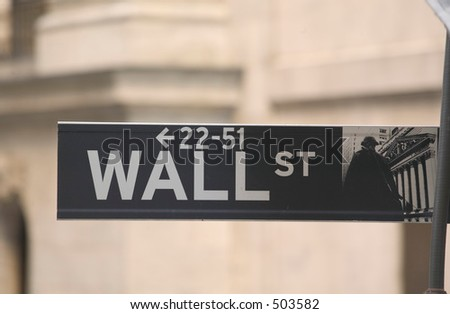 Street sign from Wall Street in New York