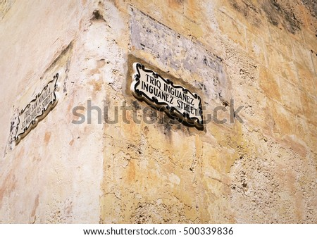 Street sign in Malta