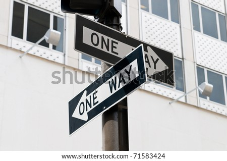 Street sign on the bright day - stock photo