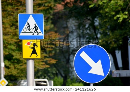 Street signs - stock photo