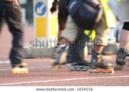 Street skate (action blurred) - stock photo