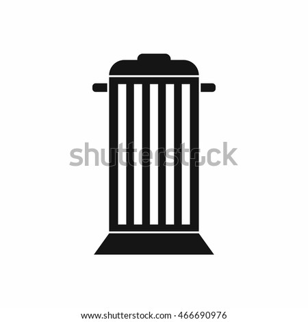 Street trash icon in simple style. Garbage symbol isolated  illustration
