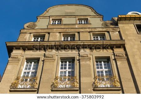 Street view Duesseldorf Rhineland - stock photo