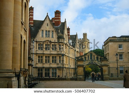 Street view in Oxford, England