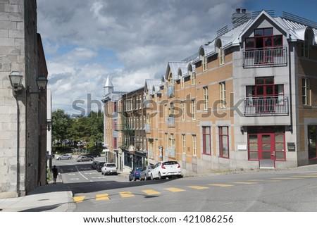 Street View. Old Quebec. Quebec City. Quebec. Canada - stock photo