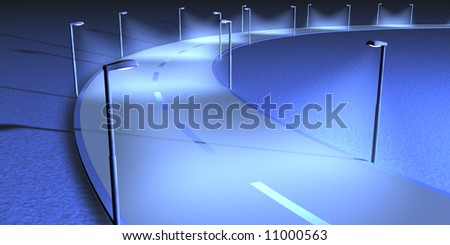 Street with lightning - stock photo