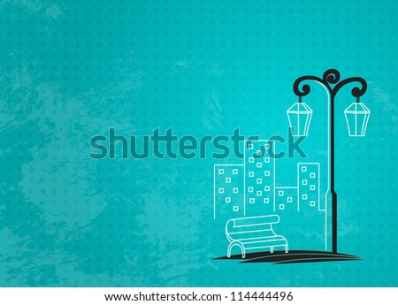 streetlight background (raster version) - stock photo